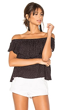 Mantaray Off Shoulder Top in Black & White