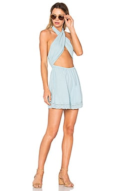 Mecury Blues Playsuit in Pastel Blue