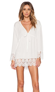 MINKPINK Beachside Breeze Kaftan in White