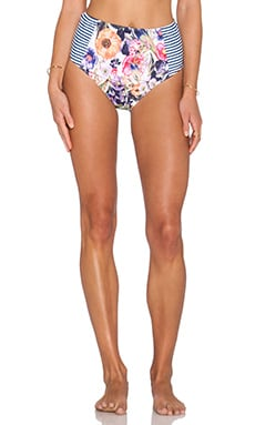 MINKPINK Spliced Summer High Waisted Bikini Bottoms in Multi