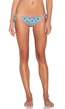 MINKPINK SKy High Tie Side Bikini Bottom in Multi