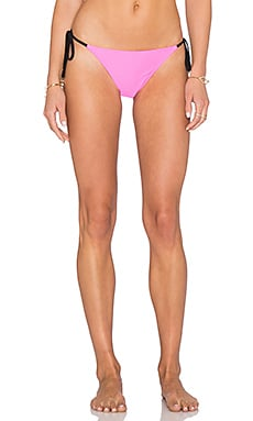 MINKPINK Shocking Pink Side Tie Bikini Bottom in Multi