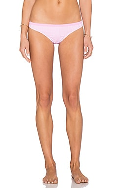 MINKPINK Candy Pink Bikini Bottom in Striped Pink