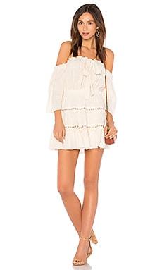 Купить Мини платье kerry - MISA Los Angeles кремового цвета