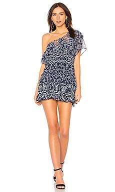 Купить Платье ezri - MISA Los Angeles, В цветочек, США, Синий