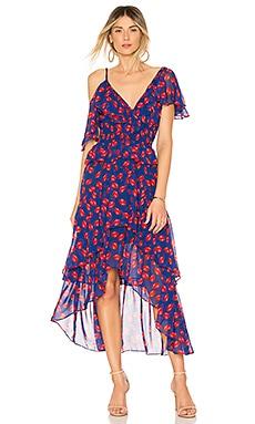 Купить Платье loulou - MISA Los Angeles, Короткий рукав, США, Синий