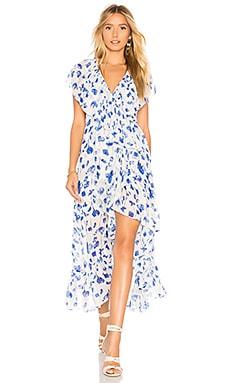 Купить Платье thesa - MISA Los Angeles, В цветочек, США, Белый