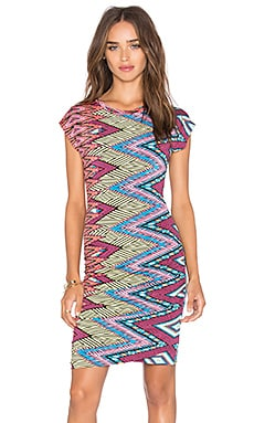 MISA Los Angeles Cyan Tank Dress in Summer Ikat