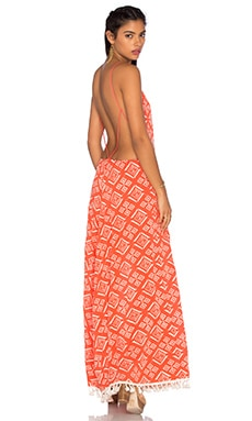 MISA Los Angeles Sienna Maxi Dress in Saffron Print