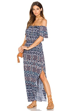 MISA Los Angeles Willow Maxi Dress in Midnight Desert