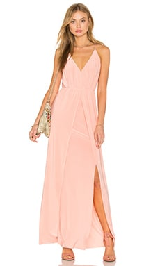 Nola Double Slit Maxi Dress in Blush