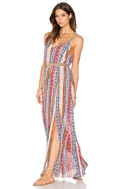 MISA Los Angeles Georgia Maxi Dress in Neutral Sedona