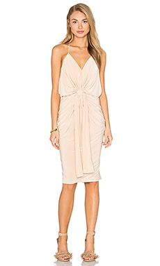 Domino Midi Dress in Nude