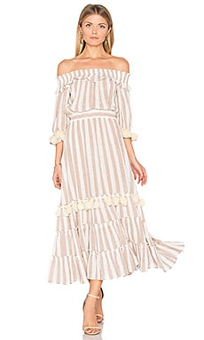 Ava Dress in Blush Stripe