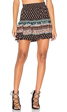 MISA Los Angeles Marion Skirt in Dark Print