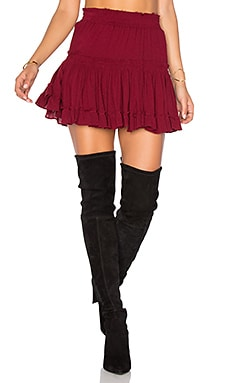 MISA Los Angeles Marion Skirt in Burgundy