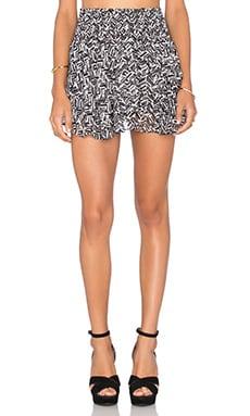 MISA Los Angeles Pilar Ruffle Skirt in Black & White Check