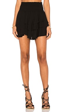 MISA Los Angeles Pilar Ruffle Skirt in Ebony