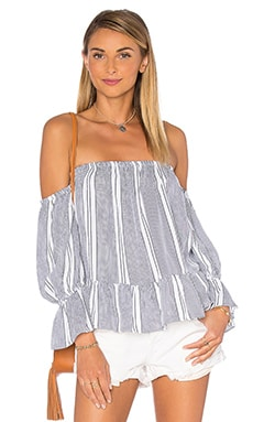 Brigit Top in Capri Stripe
