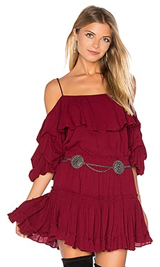 MISA Los Angeles Simone Top in Burgundy