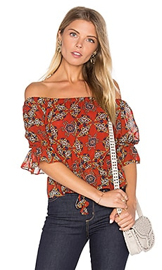 Danya Top in Cayenne Multi