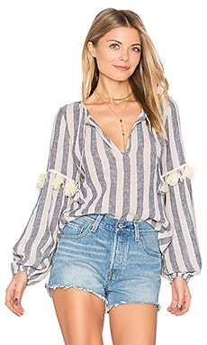 Mika Top in Blue Stripe