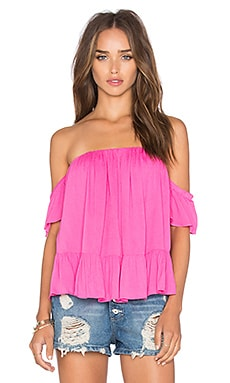 Anais Off Shoulder Top in Fuchsia