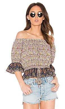 Danya Top in French Floral