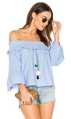 Alma Top in Blau