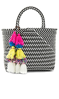 Mercado Tote in Black Multi