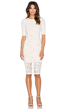 Misha Collection Rosie Dress in Ivory & Nude