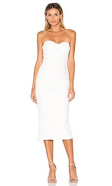 Misha Collection Byanca Quilted Dress in Milk