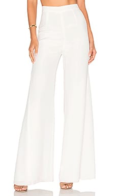 Misha Collection Giuliana Silk Pant in Milk