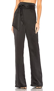 Flavanor Silk Pant in Black