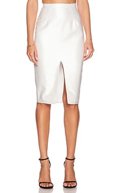 Misha Collection Agata Pencil Skirt in Pearl White