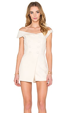 Carmela Playsuit in Milk