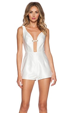 Misha Collection Lucia Playsuit in Pearl White