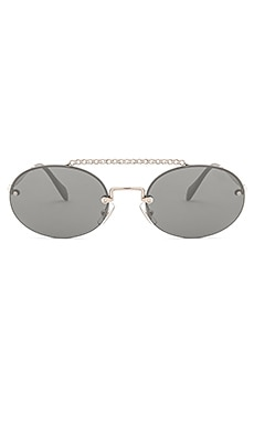 Купить Солнцезащитные очки evolution - Miu Miu, Италия, Металлический серебряный