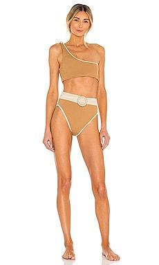 x Natalie Off Duty Stone Bikini Set Maiyo $64