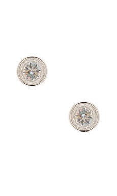 Michael Kors Cushion Cut Stud Earrings & Clear in Silver