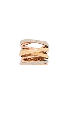 Michael Kors Ring in Tri Tone