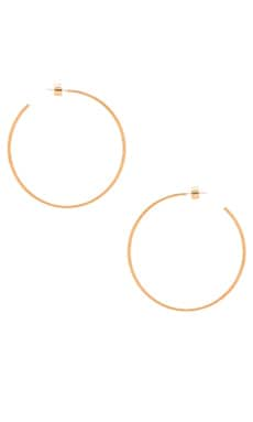 Michael Kors Large Hoop Earring in Gold