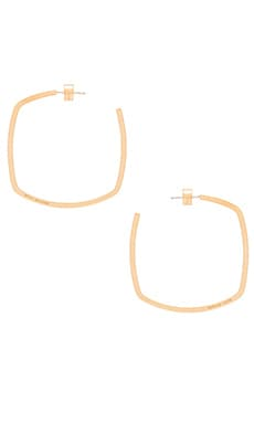 Michael Kors Large Square Hoop Earring in Gold