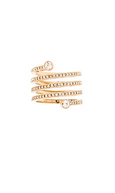 Michael Kors Pave Spiral Ring in Gold