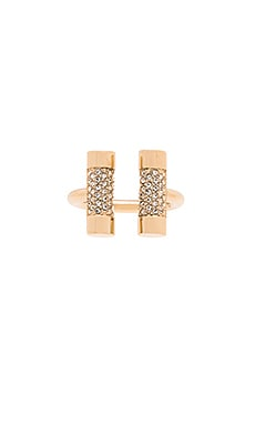 Michael Kors Open City Barrel Ring in Gold