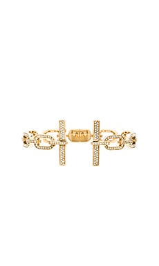 Michael Kors Frozen Chain Open Cuff in Gold & Clear