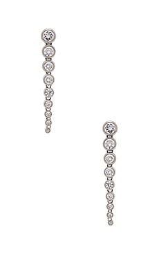 Michael Kors Graduated Round Statement Earrings in Silver & Clear