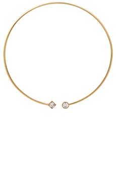 Michael Kors Flex Open Choker in Gold & Clear