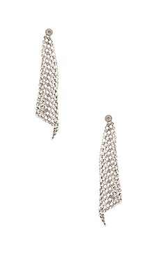 Michael Kors Triangle Mesh Statement Earrings in Silver & Clear