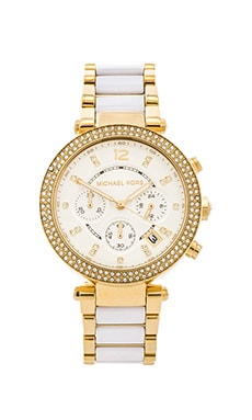 Michael Kors Parker in Gold & White